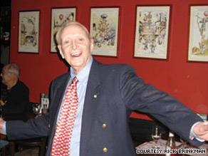 Felix Brinkmann dances at a 2008 party marking his 90th birthday.