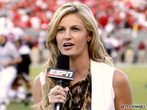 ESPN reporter Erin Andrews was allegedly stalked by a man who posted nude videos of her on the Internet.