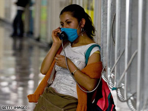 In Mexico, people are donning masks to protect against flu spread.