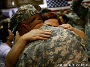 The study concludes there's a greater chance of family problems upon a military parent's return.