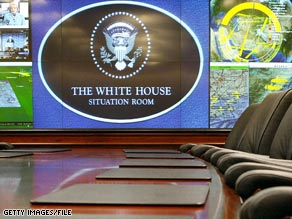 The 5000-square foot Situation Room, renovated in 2007, is likely to be a busy place.