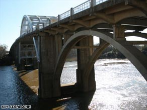 The Edmund Pettus Bridge in Selma, Alabama, site of the 1965 'Bloody Sunday' march.