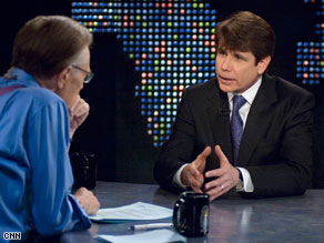 Gov. Blagojevich appeared on CNN's Larry King Live Monday night.