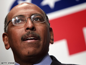 Michael Steele was chosen Friday as the first African-American leader of the Republican Party.