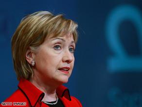 Secretary of State Hillary Clinton: Ready to move forward with six-party talks on North Korea.