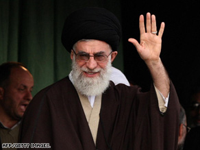 Iranian supreme leader Ayatollah Ali Khamenei addresses thousands of Iranians on March 21.