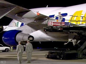 The body of Phillip Myers, 30, arrived at Dover Air Force Base in Delaware on Sunday.