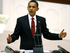 President Obama stopped in Iraq on Tuesday, after visiting Turkey where he addressed parliament Monday.