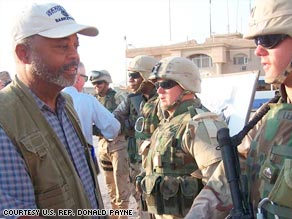U.S. Rep. Donald Payne, D-New Jersey, meets with soldiers in Iraq in an updated photo.