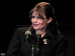 Alaska Gov. Sarah Palin didn't mention any 2012 aspirations in her speech Thursday night in Indiana.