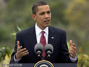 President Obama addresses reporters before leaving Trinidad for Washington on Sunday.