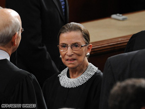 Ruth Bader Ginsburg is the only female high court justice. Women likely will be high on the Souter successor list.