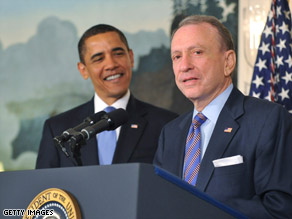 Sen. Arlen Specter gains the support of President Obama after announcing his switch to the Democratic Party.