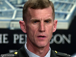 Lt. Gen. Stanley McChrystal will be taking command of NATO forces in Afghanistan.