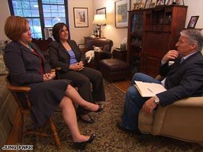 Christine Quinn, speaker of the New York City Council, and her partner, Kim Catullo, talk to John King.
