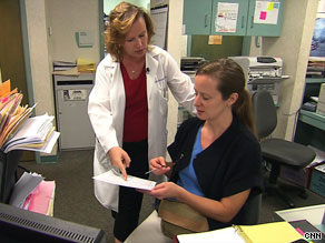 Dr. Jenni Keehbauch is the medical director at a free clinic for the uninsured.