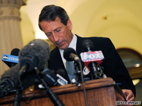 Gov. Mark Sanford speaks during a news conference at the State Capitol in Columbia on Wednesday.