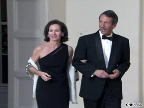 Jenny Sanford, here with her husband, was a Wall Street executive before she married Mark Sanford.