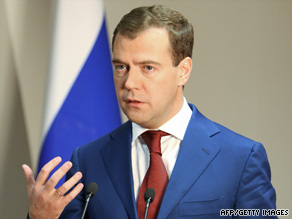 Russian President Dmitry Medvedev says the nations must combine their efforts to improve the global economy.
