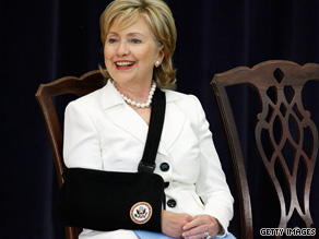 Supporters of Secretary of State Hillary Clinton insist she is not being sidelined.