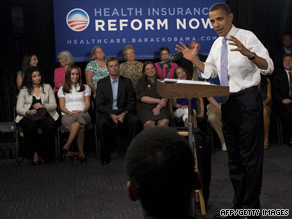 President Obama talks about health care reform Thursday in Washington.