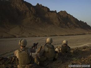 American soldiers on duty in Afghanistan