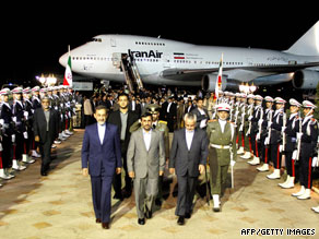 Iranian President Mahmoud Ahmadinejad arrives home Saturday after attending the U.N. General Assembly.