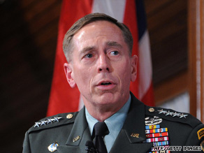 Gen. David Petraeus was diagnosed with prostate cancer in February.