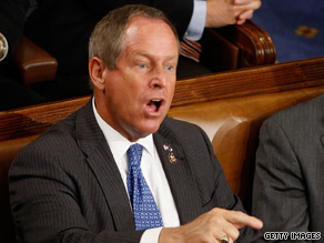 Rep. Joe Wilson's wife has swine flu.