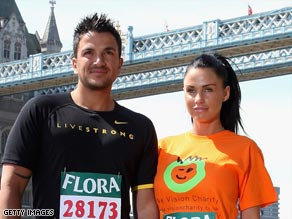 Peter Andre and Katie Price, who ran the London Marathon last month, are separating.