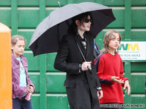 Michael Jackson, seen here with two of his three children, died suddenly on Thursday.