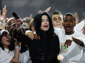 Michael Jackson performs during the 2006 World Music Awards in London, England.
