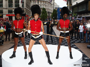 Bear-ing all: British comedian Sacha Baron Cohen's latest comic creation Austrian fashionista, Bruno, hits the red carpet.