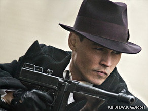 Depp is back as bank robber John Dillinger, revered in the Depression as a modern-day Robin Hood.