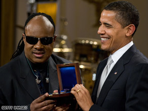 President Obama says if it wasn't for Stevie Wonder's music, he and the first lady may not have dated.