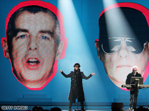 Neil Tennant and Chris Lowe, shown at the BRIT Awards in February, are releasing their 10th studio album.