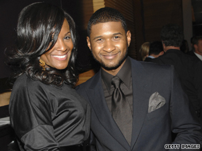 Singer Usher and his wife Tameka are shown in happier times in 2007.