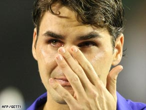 Federer's defeat to Nadal in the Australian Open final left him in tears.