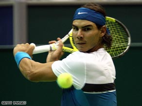 Nadal's strength of serve helped him score a comfortable win to reach the round of 16 at the Florida event.