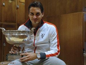 Roger Federer after equalling Pete Sampras's record of winning 14 men's singles titles.