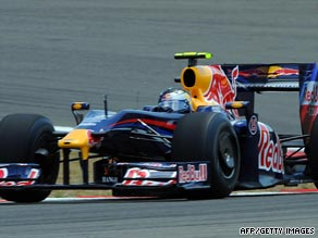 Sebastien Vettel maintained his qualifying form by taking pole position for Sunday's race at Silverstone.