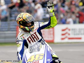 Valentino Rossi dominated the Dutch race to move clear at the top of the championship standings.