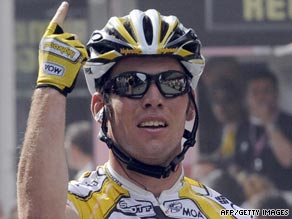 Cavendish again proved he is number one in the peloton with a superb victory in the second stage of the Tour.