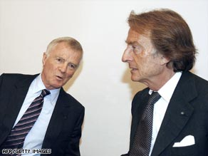 FIA president Max Mosley, left, and FOTA boss Luca Cordero di Montezemolo are battling over the future of F1.