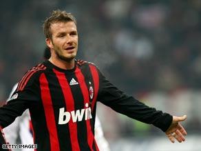 Beciham has impressed during his loan spell at Italian giants Milan.