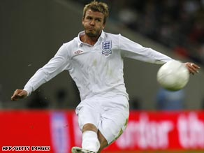 Beckham is the second most-capped player for England after making his 109th appearance against Slovakia.