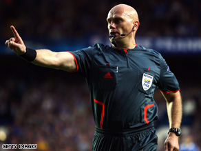 Referee Tom Henning Ovrebo was criticized by some for his decisions in the Champions League semi-final