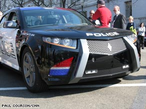 Carbon Motors Corp.'s E7 concept vehicle was on display recently near the U.S. Capitol.