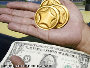'Virtual currencies,' like the hi5 Coin, shown here, are becoming more important on the Internet.