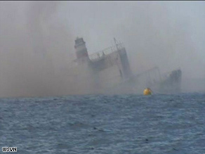 The USNS Vandenberg was intentionally sunk Wednesday to create an artificial reef for marine life.
